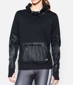Women's UA Threadborne Hybrid Pullover, Black , ONLY IF IT GOES ON SALE!!!