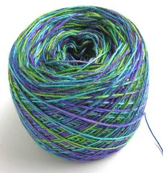 Hand Dyed Bamboo Yarn Rainforest by FiberFusion on Etsy