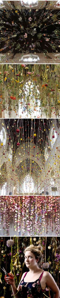 floral installations by rebecca louise law