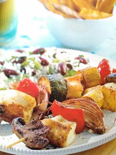 Jerk Haloumi Kebabs. Green Seasons Cookbook. Rachel Demuth. p78