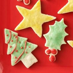 """""""Our Best Christmas Cookie Recipes: Celebrate the season with a batch of classic Christmas cookies. From gingerbread to sugar cookies, we've reduced the carbs, calories, and sugar -- but kept the flavor -- in your favorite holiday cookie recipes. Bake these delicious diabetic cookies today!"""" Shown: """"Almond Cream Cutouts"""" - Click through for more than two dozen more low-carb treats."""
