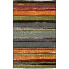 Rainbow Multi Stripe Rug Rug (8 x 10)