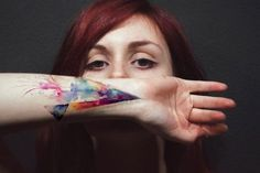 Watercolor Tattoo LOVE this!