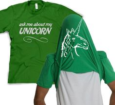 MENS Ask Me About My Unicorn Flip T-Shirt funny disguise, pony, gift for brony, brother, husband, guys, my, boyfriend, fantasy, little S-5XL door CrazyDogTshirts op Etsy https://www.etsy.com/nl/listing/130137225/mens-ask-me-about-my-unicorn-flip-t