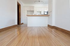 Kitchen and hard wood floors