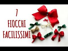 Come fare FIOCCHI PERFETTI: 7 varianti FACILISSIME! (Crafting) Arte per Te - YouTube Christmas Wreaths, Christmas Crafts, Christmas Ornaments, Crepe Paper Crafts, Card Maker, Beautiful Christmas, Paper Flowers, Diy And Crafts, Gift Wrapping