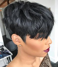 Cute short wigs for black women lace front wigs human hair w.- Cute short wigs for black women lace front wigs human hair wigs. Click picture t… Cute short wigs for black women lace front wigs human hair wigs. Click picture to see more - Short Pixie Haircuts, Cute Hairstyles For Short Hair, Pixie Hairstyles, Curly Hair Styles, Natural Hair Styles, Everyday Hairstyles, Pixie Styles, Short Styles, Hairstyles 2016