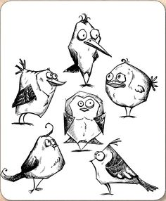 *PRE-ORDER* Stamper's Anonymous / Tim Holtz - Cling Mounted Rubber Stamp Set - Bird Crazy