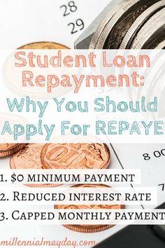 Struggling with paying your student loans? Find out why you need to apply for REPAYE to lower your monthly payments and cut your interest rate in half. student loans Why You Should Apply for REPAYE Loan Repayment Plan Apply For Student Loans, Paying Off Student Loans, Student Loan Debt, Student Loan Repayment, Loan Money, Student Loan Forgiveness, Savings Planner, Scholarships For College, College Loans