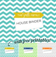 Lots of free printables & instructions on creating a family binder/household binder for emergency preparedness, etc!