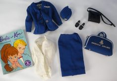 VINTAGE BARBIE 1961-64 AMERICAN AIRLINES STEWARDESS #984 COMPLETE OUTFIT