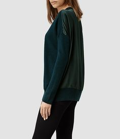 Womens Maher Sweater (Petrol/Teal) | AllSaints