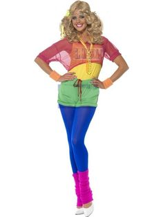 New 80s Lets Get Physical Costume Olivia Newton John Fancy Dress Aerobics Sport #Smiffys #CompleteCostume #CompleteCostume