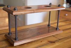 Pour Over Coffee Dripper Stand (Walnut Wood) by OpusMacaw on Etsy https://www.etsy.com/listing/258483015/pour-over-coffee-dripper-stand-walnut