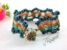TUTORIAL Missoni Inspired MicroMacrame Bracelet by RaquelsBeaDesigns
