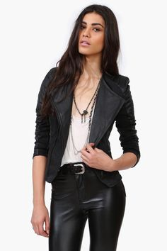 Every girl needs a pair of leather pants in her closet.