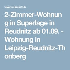 2-Zimmer-Wohnung in Superlage in Reudnitz ab 01.09. - Wohnung in Leipzig-Reudnitz-Thonberg