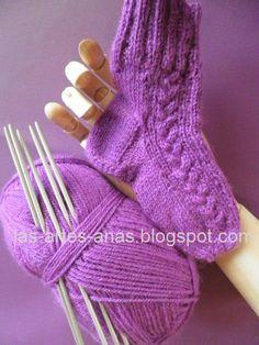 Como hacer el tal n del calcet n calcetines pinterest - Como hacer talon de calcetines de lana ...