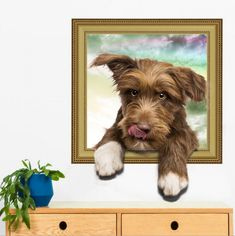 Hot DIY puppy dog Wall Sticker PVC backdrop Decor Home Decoration room Decals Wall Art Wallpaper Stickers on the wall poster Wall Stickers Cats, Wall Stickers Home Decor, Diy Stickers, Bathroom Stickers, 3d Sticker, Vinyl Decals, Wall Decals, Vinyl Art, Pvc Backdrop