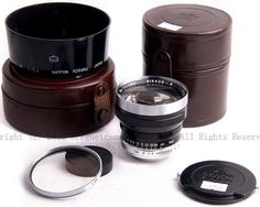 Very, Very Rare 5cm F1.1 Nikkor Lens, Leica 39mm Thread Mount, complete with Shade, Caps and case. There were less than 50 made!