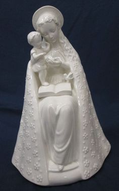 Rare Large Vintage German Goebel Porcelain Praying Madonna