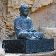 Handmade Sitting Buddha Garden Fountain