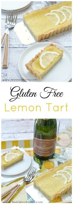 Gluten Free Lemon Tart   http://www.fearlessdining.com