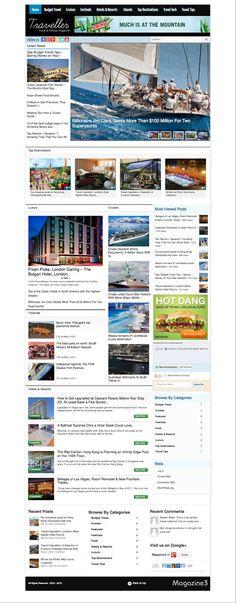Traveller WordPress Travel Magazine Theme