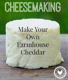 How to Make Cheese. Make your own Farmhouse Cheddar with From Scratch Magazine. (How To Make Homemade Cheese) Goat Milk Recipes, No Dairy Recipes, Cheese Recipes, Cooking Recipes, Easy Recipes, Cheese Dishes, Fromage Vegan, Fromage Cheese, Cheddar Cheese