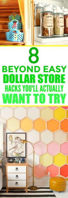 These 8 SUPER easy dollar store hacks are THE BEST! I'm so happy I found this AMAZING POST! These ideas are beyond genius! I'm definitely pinning for later!