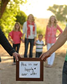 Family picture idea. Love this.