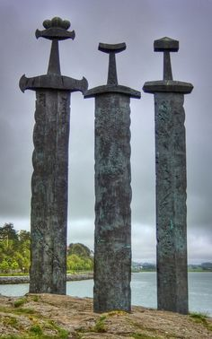 Viking Swords at Stavanger Sword Monument, Stavanger, Norway.  I'd have made an excellent Viking.