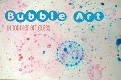 Library makers Toddler Art Class: Bubble Art! :