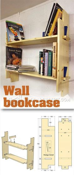 Wall Bookcase Plans - Furniture Plans and Projects | WoodArchivist.com