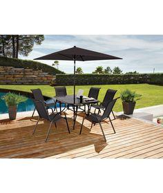 buy amalfi 6 seater patio furniture dining set at argos co uk