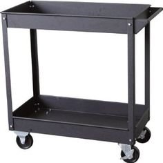 Torin Steel Service Cart - 600-Lb. Capacity, Model# NTC302A by Torin Big Red. $59.99. This Torin 28in.L x 14 1/2in.W x 31in.H service cart is versatile enough for the warehouse, the garage - anyplace a rugged cart is needed. Two deep trays hold the load securely. Heavy-duty all-steel cart has a tough, chip-resistant painted finish. Rolls easily on large 4in. solid rubber casters (2 swivel with brake, 2 fixed). Easy to assemble. Dimensions W x D x H (in.): 14 1/2 x 28 x 31, Whe...
