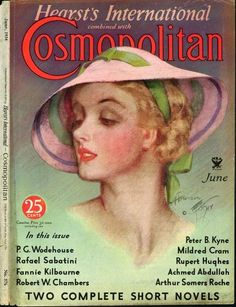Cosmopolitan Magazine Copyright 1934 P G Wodehouse - Mad Men Art: The Vintage Advertisement Art Collection Vintage Art, Vintage Ladies, Vintage Stuff, Vintage Books, Vintage Posters, P G Wodehouse, Illustration Art Nouveau, Magazine Illustration, Charles Dana Gibson