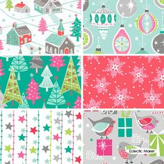 Christmas Dreams Fabric Pack Wendy Kendall in Multi