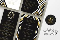 Wedding Invitation Suite - Diana by Print The Love Boutique on @creativemarket