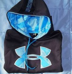 navy blue under armour hoodie
