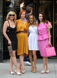 Sex in the City cast... Samantha, Miranda, Carrie and Kristin in NYC!