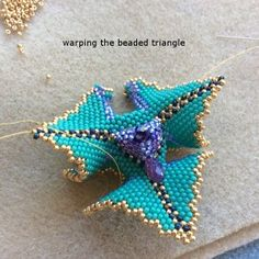 Warped Beaded Triangle ~ step by step ~ Seed Bead Tutorials