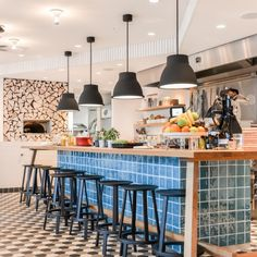 Concept hotel stay shared cooking turquoise tiles Amsterdam Zoku ©BintiHome