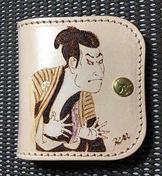 #浮世絵 #ukiyoe #Leather #leatherart #kmheatcraft #japan #osaka #kyoto #hyougo #写楽 #sharaku