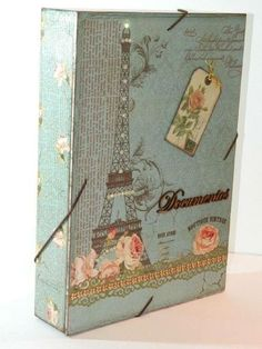 Decoupage Vintage, Decoupage Paper, Vintage Crafts, Cigar Box Crafts, Diy Gift Box, Family Organizer, Shabby, Scrapbooking, Box Art