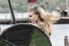 Porunn (Gaia Weiss) trains to be a shield maiden.