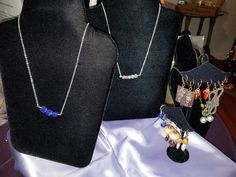 When you are out and about for something special and unique this holiday season, check out the jewelry collection at the Grayson Arts & History Center. The artist is from Stone Mountain - Earrings are $15 and necklaces are $25.