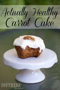 Healthy Carrot Cake that's clean eating friendly and low fat and can also be gluten free and vegan free