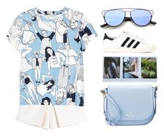 """blueeyed"" by seriouskatya ❤ liked on Polyvore featuring Carven, Monki, adidas Originals, Kate Spade, Christian Dior and KEEP ME"