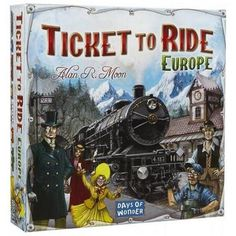 Ticket to Ride: Europe takes you on a new train adventure across Europe. From Edinburgh to Constantinople and from Lisbon to Moscow, you'll visit great cities of turn-of-the-century Europe. Like the original Ticket to Ride, the game remains elegantly simp Best Family Board Games, Family Boards, Family Games, World Of Warships, Europe Day, Rm 1, Ticket To Ride, Strategy Games, Adult Games